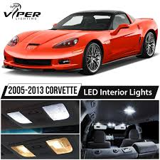 2005-2013 Chevrolet Corvette C6 White LED Interior Lights Package ...