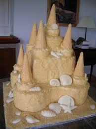 12 Beach Sandcastle Sand Castle Wedding Cake