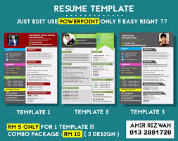 Amir Rizwan On Twitter Jom Dapatkan Template RESUME Yang Menarikboleh Edit Pakai POWERPOINT JE Murah2