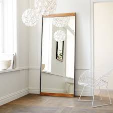 Industrial Metal Wood Floor Mirror