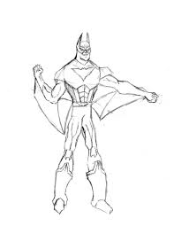 Batman Beyond Coloring Pages Free Printable