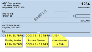 Checking Account and Routing Number