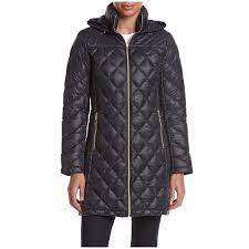 Michael Kors Women s Navy Nylon and Down Diamond quilted 3 4