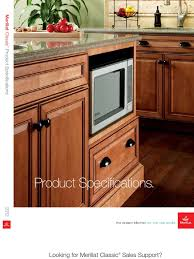 Merillat Classic Cabinet Colors by Classicspecs Pdf Cabinetry Door