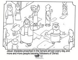 Kids Coloring Page From Whats In The Bible Showing Peter Preaching Volume Spreading Good News