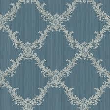 klassische tapeten may d3d388 vlies blau silber