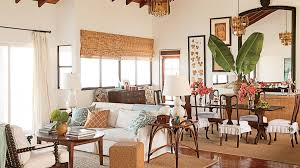 This St Kitts Great Room Features Dark Stained Wood A Frequent Feature Of Island