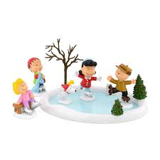 Charlie Brown Christmas Tree Sale Walgreens by Set Of 6 Peanuts Skating Pond And Figurine Collectibles U2014sears