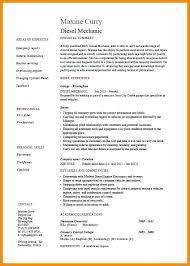 Resume For Diesel Mechanic Auto Templates Automotive