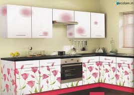 This Laminate Kitchen Pair Pink With White Will Give Cherish Look Each Clean Colours That Could Just Remind You Of A Healthy Brunch