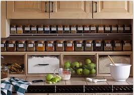 Awesome Glass Jar Arrangement For Storage Ingredient With Catchy Look In Small Kitchen Idea