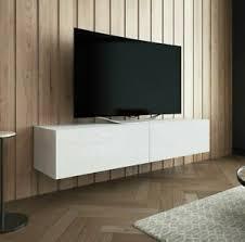 details zu tv lowboard branda 150 sideboard hängeschran hängend weiß hängend wohnzimmer
