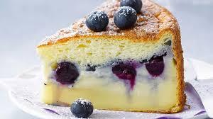 recette de gâteau magique à la vanille fourré aux myrtilles l