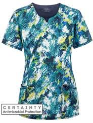 Ceil Blue Print Scrub Jackets by Print Scrub U0026 Print Scrub Tops At Medical Scrubs Mall