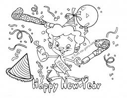 Print Out Happy New Year Coloring Pages 2015