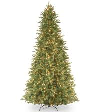 Artificial Fraser Fir Christmas Trees Uk by National Tree Pre Lit 9 U0027 Feel Real Tiffany Fir Slim Hinged