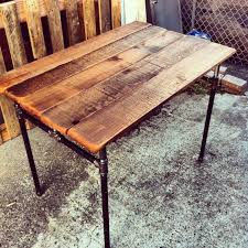 Cast Iron Pipe Desk With Reclaimed Wood Top DIY