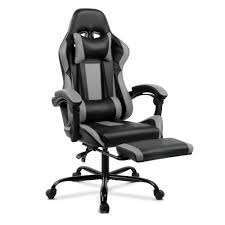 Office Gaming Chair Computer Seating Racer Footrest Black And Grey | EBay Gaming Chair With Monitors Surprising Emperor Free Ultimate Dxracer Official Website Mmoneultimate Gaming Chair Bbf Blog Gtforce Pro Gt Review Gamerchairsuk Most Comfortable Chairs 2019 Relaxation Details About Adx Firebase C01 Black Orange Currys Invention A Day Episode 300 The Arc Series Red Myconfinedspace Fortnite Akracing Cougar Armor Titan 1 Year Warranty