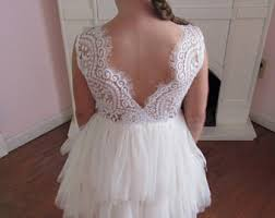 Ivory Flower Girl DressWhite Lace DressIvory Tutu Tulle Dress
