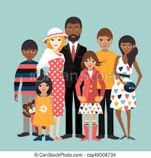 Mixed race family with 5 children