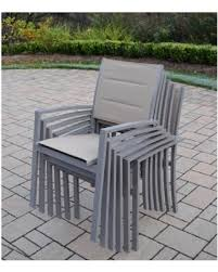 Stackable Outdoor Sling Chairs by Spectacular Deal On Sydney Taupe Aluminum Synthetic Padded Sling