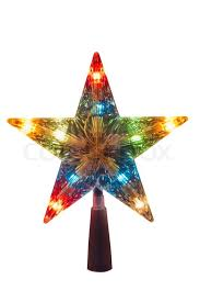 Illuminated Golden Christmas Star Topper To Be Placed In The Top Of Tree