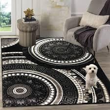 teppich 206 black diyez siela quadratisch höhe 8 mm teppich wohnzimmer schwarz kurzflor kaufen otto