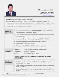 Electriciane Sample India Indian Pdf Format Electrical Engineer Fantastic Electrician Resume Templates