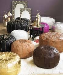 pouf marocain en cuir idées d co pouf marocain