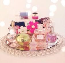 VintageFilligree Vanity Mirrored Tray Perfume Dresser