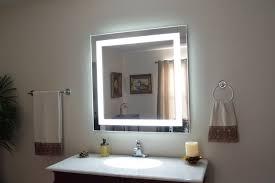bathroom stylish calabria bathroom mirror with side frame led