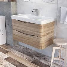 Ebay Bathroom Vanity Units by Eaton Wall Mounted Bathroom Vanity Unit Light Oak Resin Basin