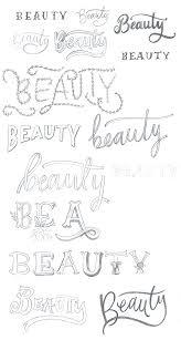 Beautyescrito Com Letras Diferentes Umas Das Outras Letras