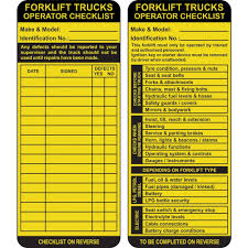 Forklift Inspection Safety Tags | PARRS | Workplace Equipment Experts About Fork Truck Control Crash Clipart Forklift Pencil And In Color Crash Weight Indicator Forklift Safety Video Hindi Youtube Speed Zoning Traing Forklifts Other Mobile Equipment My Coachs Corner Blog Visually Clipground Hire Personnel Cage Forktruck Truck Safety Lighting With Transmon Shd Logistics News Health With