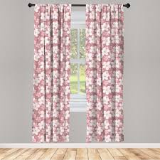 gardine fensterbehandlungen 2 panel set für wohnzimmer schlafzimmer dekor abakuhaus karikatur kirschblüten petal kaufen otto