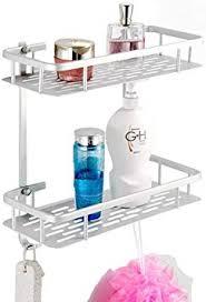 aiyoo badezimmer regal aluminium dusche regal 2 etagen