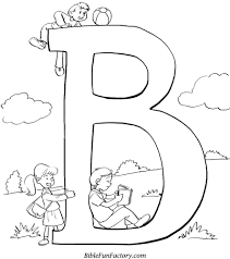 Free Bible Printables B Is For Coloring Sheet