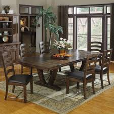 Castlegate Wood Rectangular Dining Table In Distressed Medium Brown