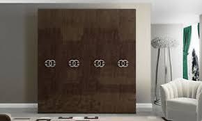 details zu kleiderschrank schlafzimmer schrank drehtüren braun hochglanz italienische möbel