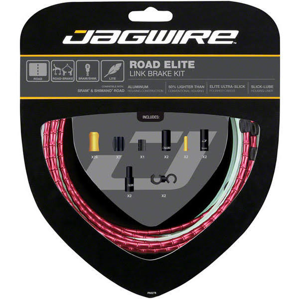 Jagwire RCK703 Link Brake Cable Kit - Red
