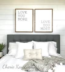 Bedroom Wall Decor Love You More Most Wood Sign Like This Alluring Ideas
