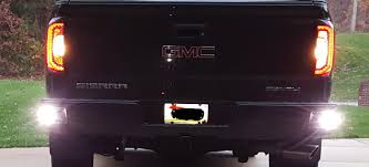 100 Truck Bumper Step LED Reverse Backup Lights In Rear Bumper Step Cavity 20142018