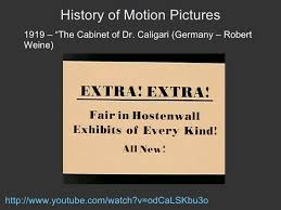 The Cabinet Of Doctor Caligari Youtube by Emc 3000 Lecture 5 Silent Film History