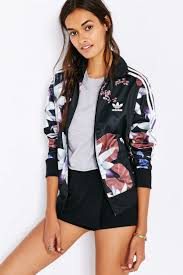 adidas lotus print track jacket urban outfitters casual