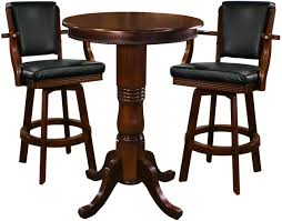 Ozone Bar Stools And Pub Table Set Antique Brown