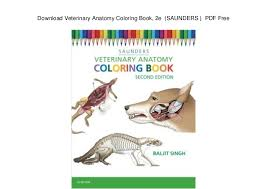 Download Veterinary Anatomy Coloring Book 2e SAUNDERS PDF Free