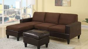 Poundex Reversible Sectional Sofa by Amazing Poundex F7291 Chocolate Microfiber Sectional Sofa W