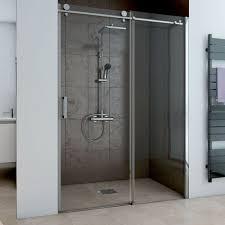duschabtrennung schiebetür 110x200 dusche glastür typ 8505181 mit wandschiene in alu chromeffekt rechts werksverka
