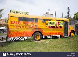 KAHUKU, OAHU, HAWAII - FEBRUARY 27, 2017: Kalbi On Fire BBQ Food ... Bisac Food Truck Hawaii News And Island Information Truck Covered In Graffiti Parked On The Side Of Road La Going Banas For Bann Honolu Psehonolu Pulse Famous Trucks At North Shore Oahu Usa Serving Traditional Hawaiian Poke Fusion Cuisine Geste Shrimp Mauis New Crave Hooulu Culture Home Carts Something New Kings Frolic Top 5 Maui Travel Leisure Koloa Kauai Hi September 2017 Yellow Stock Photo 719085205