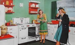 1940s Kitchen Ladies Illustration Vintage Advertisement Baking Goods Americana Women Christian Montone Tags